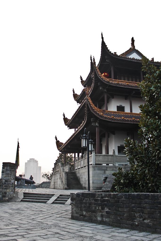 Vista trasera del Pabellón Tianxin.