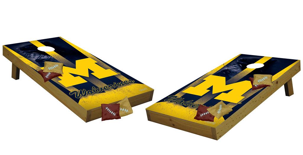 Michigan Wolverines Premium Cornhole Boards