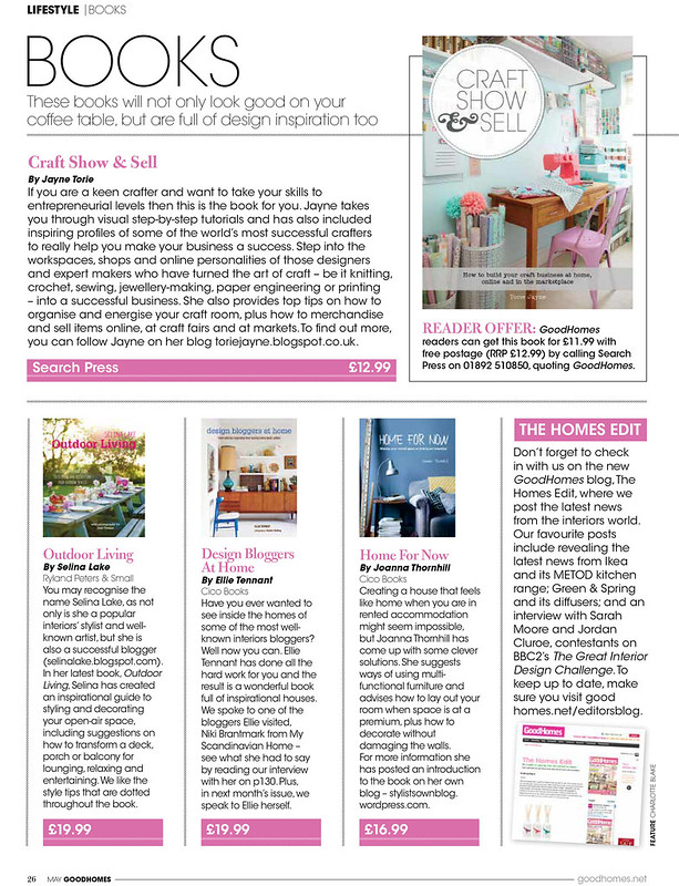 Craft, Show & Sell featured in Good Homes Magazine May 2014
