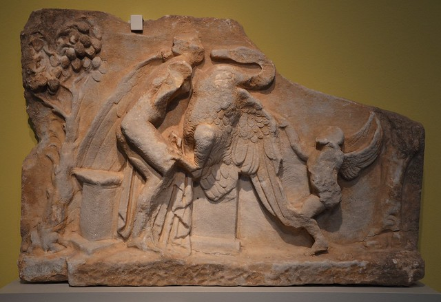 Relief Leda and the Swan, 1st century BC, Altes Museum