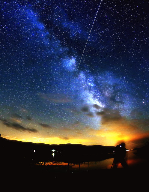 Milky Way & Meteor