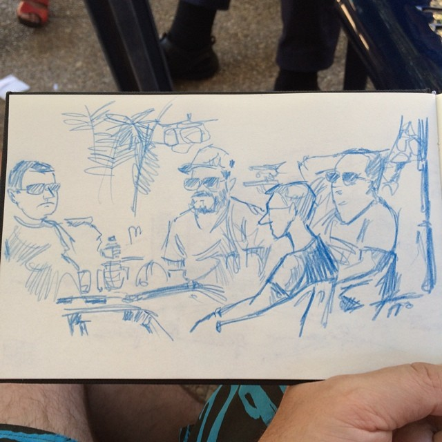 Coffe time #benidorm #colorpencil #urbansketch