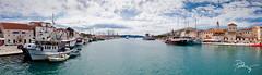 Trogir downtown harbor