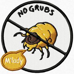 No Grubs patch mockup