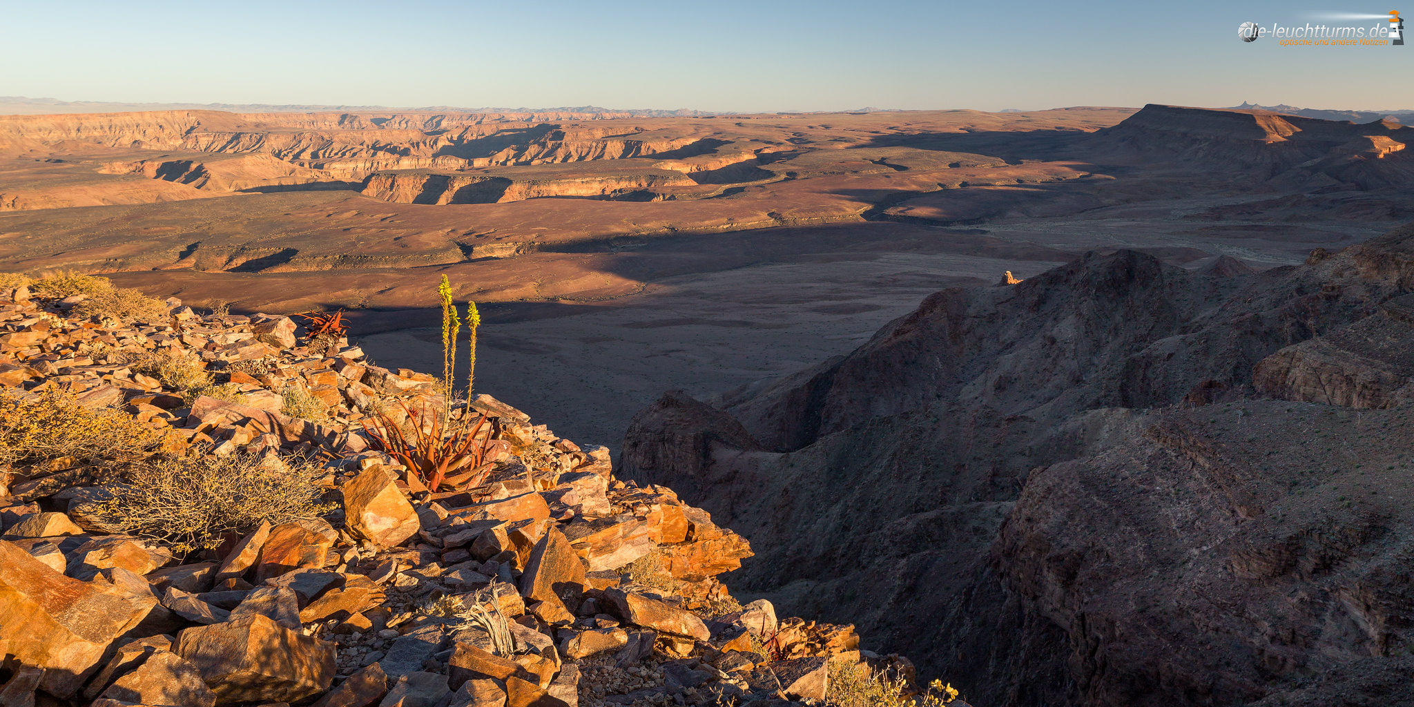 Fish river canyon in evening light