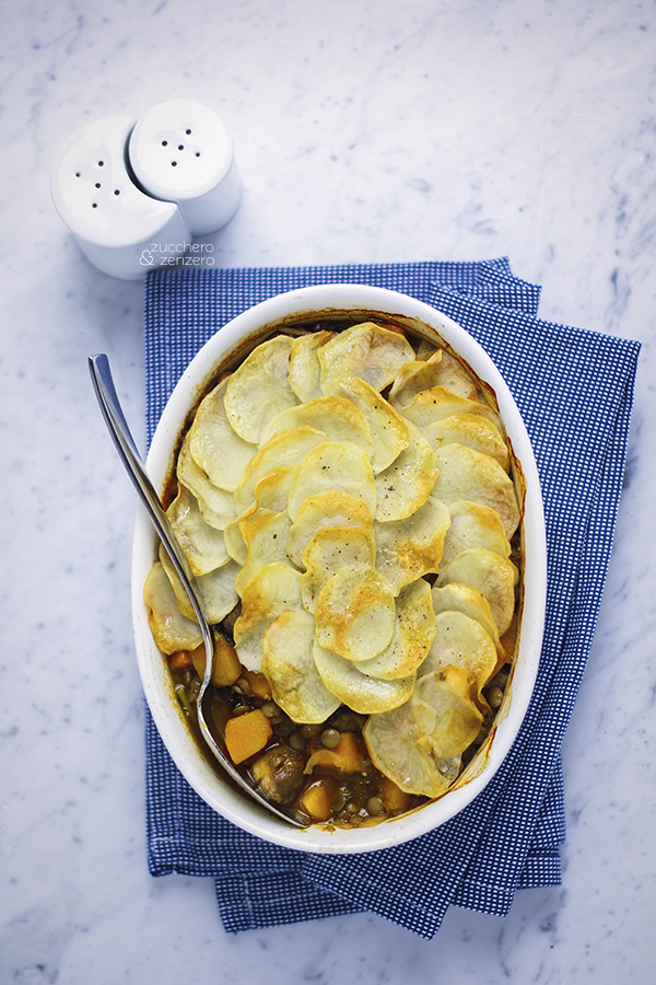 Lentil, squash and kale hotpot