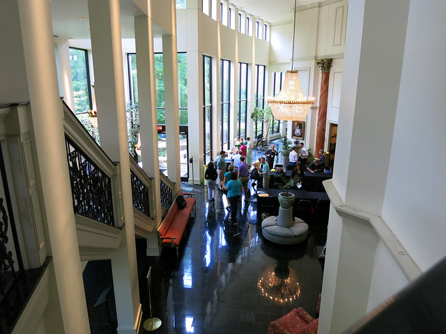 IMG_1608-2013-06-29--Spivey-Hall-view-from-stair-and-grand-lobby-to-lake-Clayton-State-University
