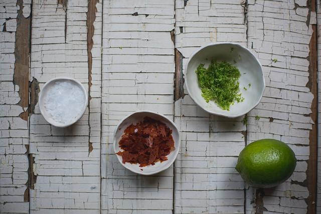 Grilled Okra with Sriracha Lime Salt