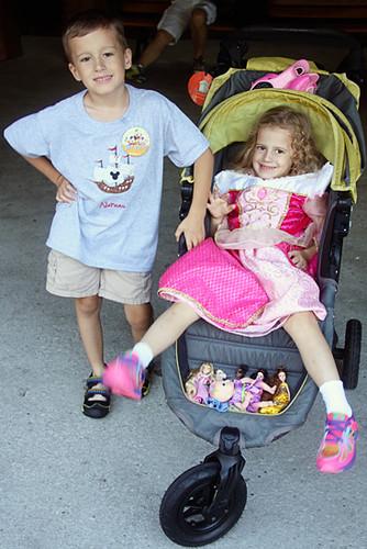 Princesses-in-Stroller