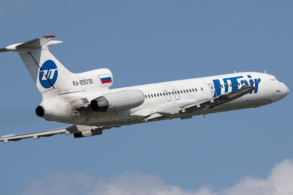 Tu-154M takeoff from Pulkovo airport ULLI