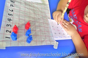 DIY Addition Strip Board Variation (Photo from The Pinay Homeschooler)