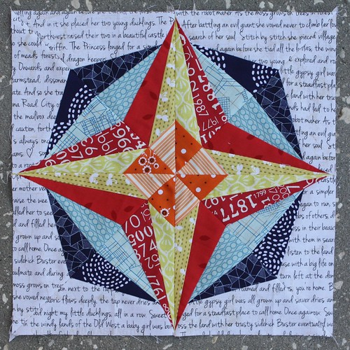August Lucky Stars Block of the Month: Pinwheel Star