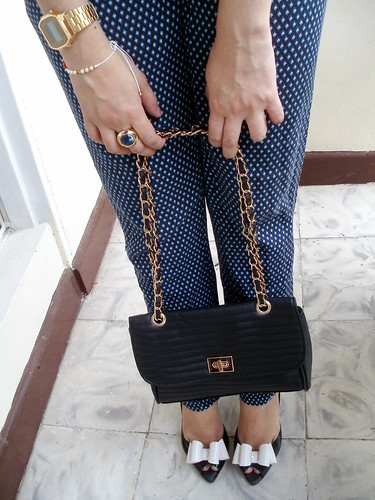 melissa shoes and chain bag