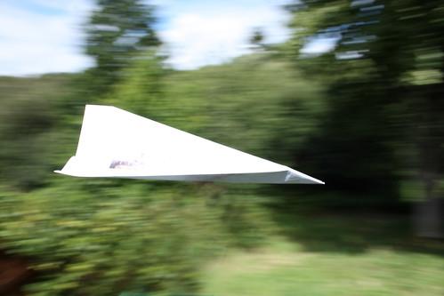 Paper plane by Helen in Wales