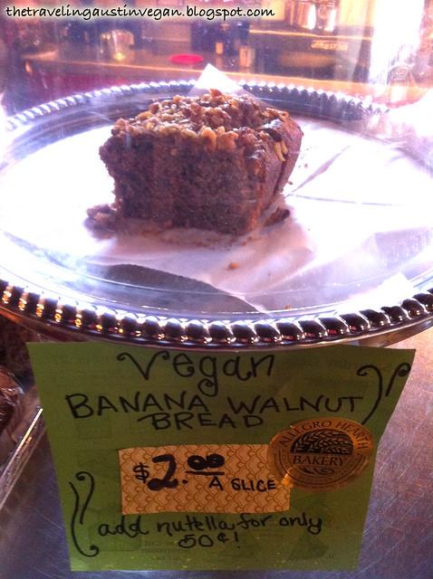 Vegan Banana Walnut Bread from Té Café - Pittsburgh, PA