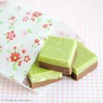 Lime meringue & chocolate fudge