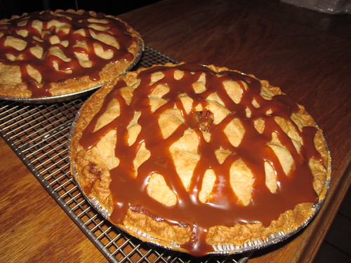 Freshly made Caramel, Apple, Walnut pies.  Dell Rhea Chicken Basket.  Willowbrook Illinois.  September 2013. by Eddie from Chicago