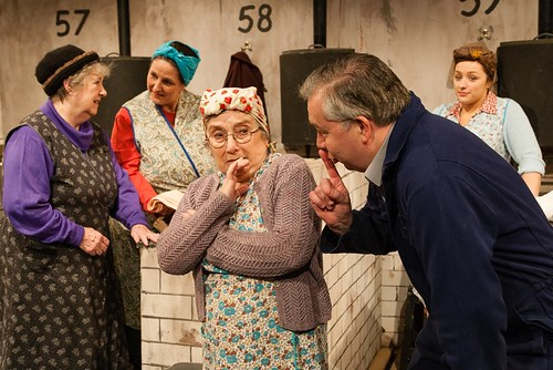 Joan Hunter, Mandy Black, Sheila Somerville, Ronnie Millar and Sarah Howley in EPT's production of The Steamie at the Church Hill Theatre Photo © Robert Fuller
