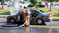 Car fire in Aspen Hill, Maryland