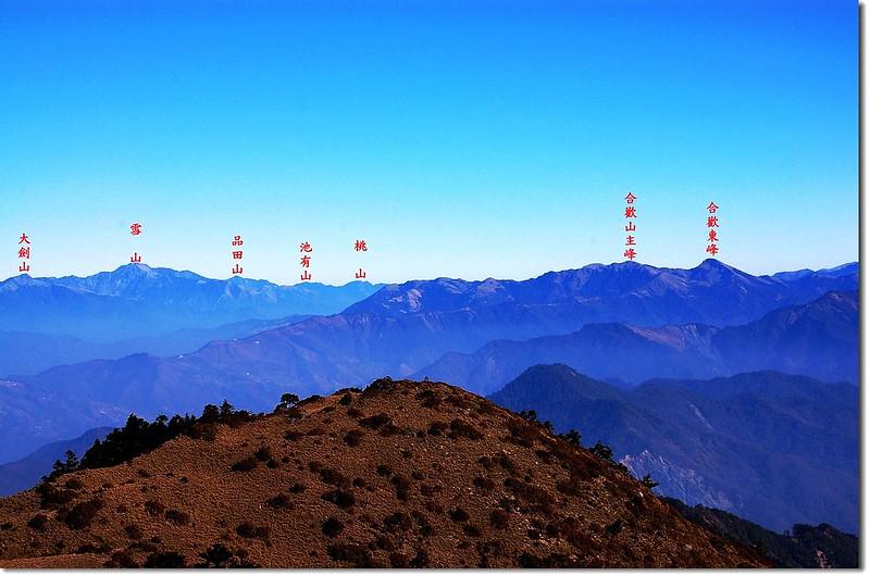 三叉峰環景(From 三叉峰營地,北至東) 10