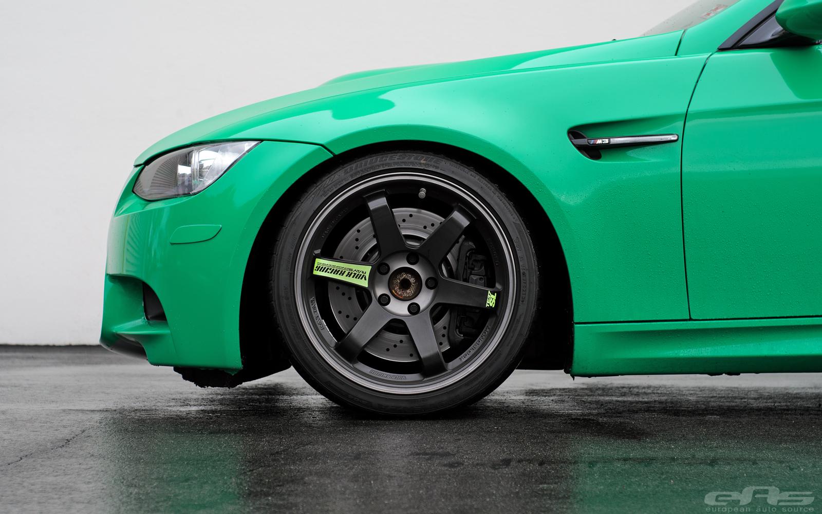 Takata Green E92 M3 On Te37sl Black Editions Bmw Performance Parts