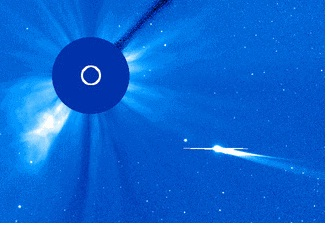Comet ISON from SOHO
