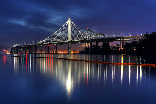 sanfrancisco california bridge usa dawn