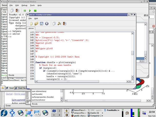 FreeMat — бесплатный аналог MatLab
