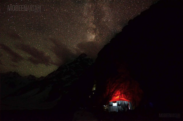 Upper Shani camp under Milky Way