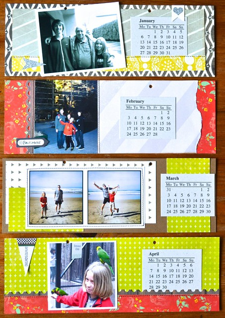 2014 photo calendar Sep-Dec