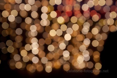 Steaua sus răsare cu un bokeh mare. Experimentând defocalizarea luminițelor de Crăciun 11258643793_15bba16ecd