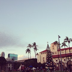 Honolulu, you're something else.  Sweating here waiting for the holiday parade and tree lighting.
