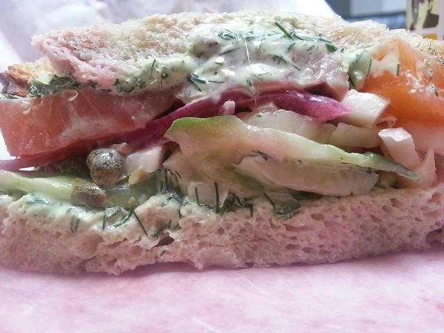 Gravlax Sandwich - inside