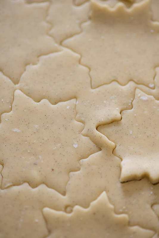 Vanilla Cardamom Shortbread Snowflake Sandwich Cookies with Espresso Buttercream Filling www.pineappleandcoconut.com #fbcookieswap