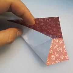 วิธีพับกระดาษรูปหมวกซานต้า 007