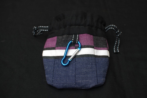 Dog treat bag - front view open