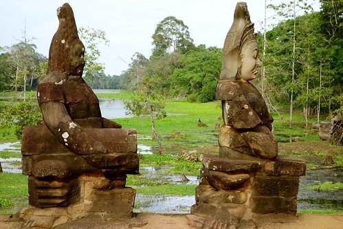 Statues at Angkor Thom gate