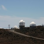 Telescopes on the crater, Maui