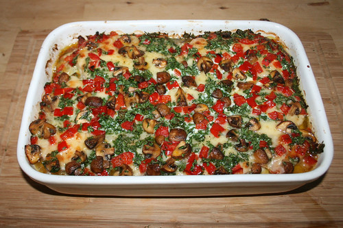 38 - Brotauflauf mit Kasseler & Käse - Fertig gebacken / Bread casserole with smoked pork & cheese - Finished baking