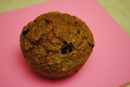 peanut butter chocolate chip bran muffins (4)