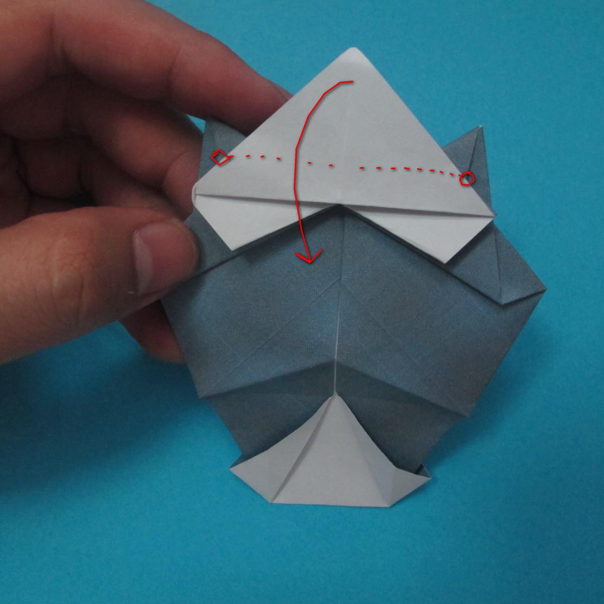 วิธีการพับกระดาษเป็นรูปนกเค้าแมว 024