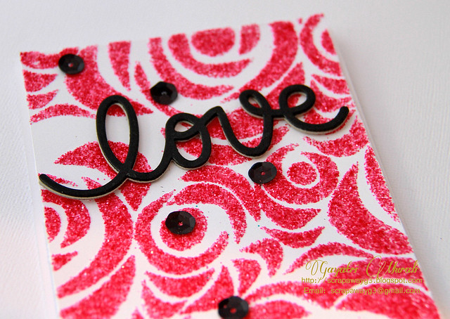 Love glitter card closeup1