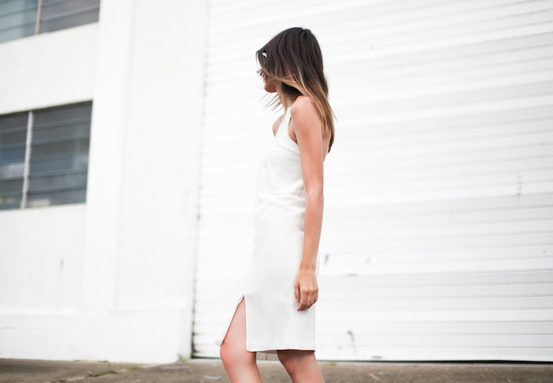 modern legacy fashion style blogger australia street style tall summer LIUK ivory white cami split midi dress (1 of 4)