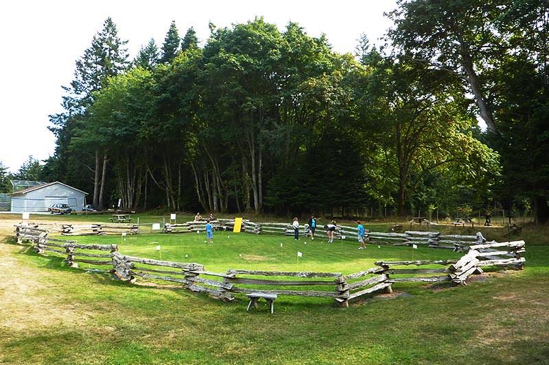 Putting Green at Dinner Bay Park, Mayne Island, Southern Gulf Islands, British Columbia
