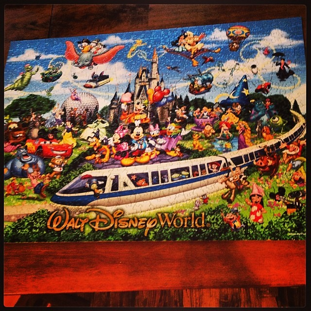 We are working through our Christmas puzzles. We just finished this 750 piece puzzle. Now on to the 3000 piece one from my brother.