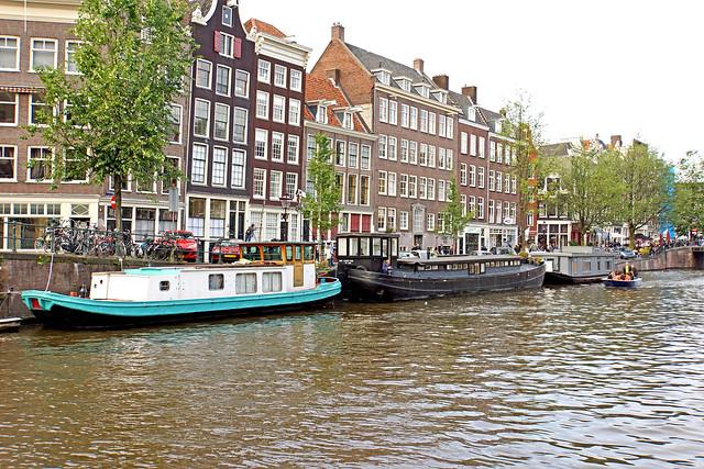 Netherlands-4483B - Canal Scene