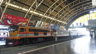 Image of  Bangkok Railway Station. train thailand asia southeastasia diesel bangkok locomotive hualamphong diesellocomotive thairailways asianrailway