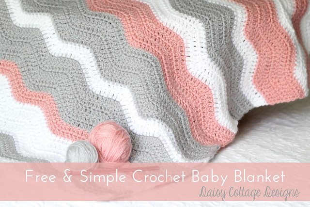 Free Crochet Pattern For Baby Ripple Afghan : Free Crochet Pattern - Ripple Baby Blanket - Daisy Cottage ...