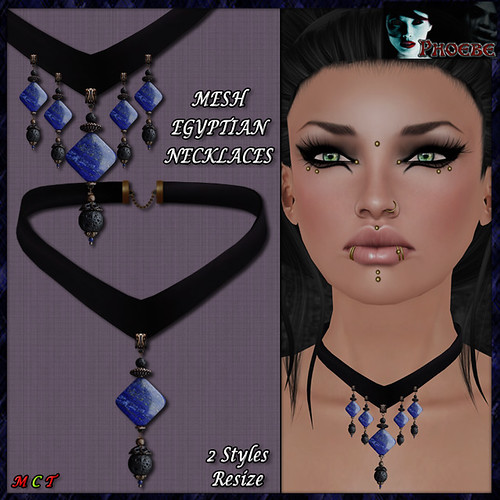 [PROMO!] *P* Egyptian Lapislazuli MESH Necklaces