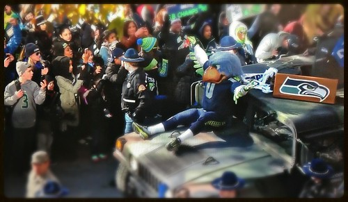 700,000 Fans Turn Out For Seahawks Parade by Seattle Daily Photo